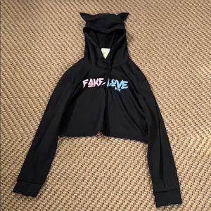 Bts Cropped hoodie